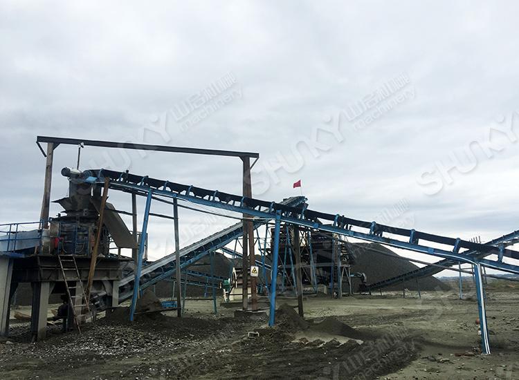 甘肃省张掖花岗岩破碎生产线